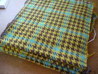 千鳥格子織り上がりました - アトリエひなぎく 手織り日記