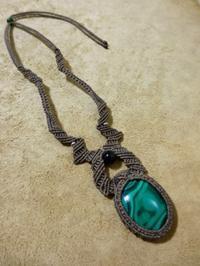 【マクラメ&ヘンプ】#103 マラカイトのネックレス - Shop Gramali Rabiya   (SGR)