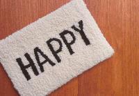 HAPPYメッセージラグ - 空飛ぶ絨毯