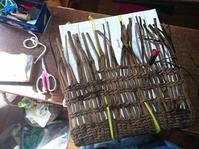 籠編み教室 1月 2 - 古布や麻の葉