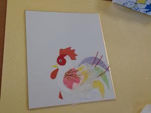 色紙に貼り絵 - ミケトラの日記のようなもの
