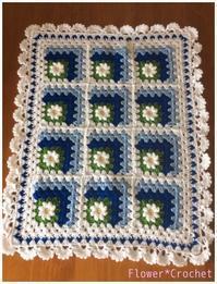 デイジーのミニブランケット☆完成 - Flower*Crochet