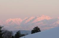 夕日の雪剱 - シェーンの散歩道