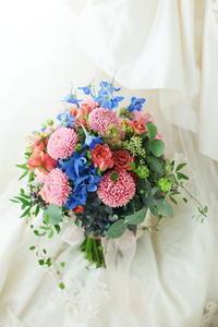 クラッチブーケ FEU様へ とても今更ながら2016年の大賞マッシュサーモン - 一会 ウエディングの花