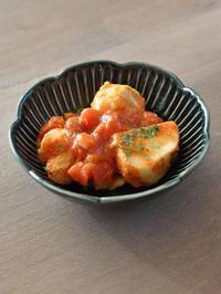 里芋のトマト煮 - うつわや店主の日々ごはん