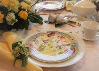 春色のティータイム - coco diary 山口県 お花と絵とテーブルコーディネートレッスン