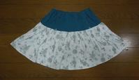 302.花柄のスカート - フリルの子供服