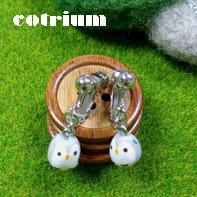 フクロウさんのイヤリングで - cotrium(コトリウム) 手作り雑貨(マト・とり・動物など)