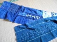 少し襤褸布でストール(Kさんの作ったの見て)あまりに寒いので - 藍ちくちく日記