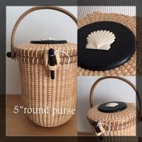 """5""""round purse - NANTUCKET &KK ナンタケットバスケット制作教室blog♪"""