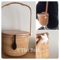 "9""Flatback with wood lid - NANTUCKET &KK ナンタケットバスケット制作教室blog♪"