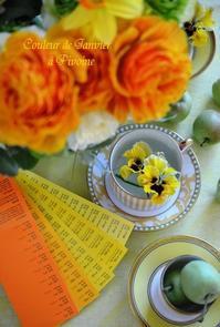 *ガレット・デ・ロワのテーブル(カラーコーディネート) - 12ヵ月の幸せなテーブル