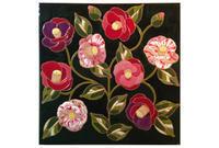 花のタイル(2)椿 と「マリメッコ展」 - 碧ざくろタイル