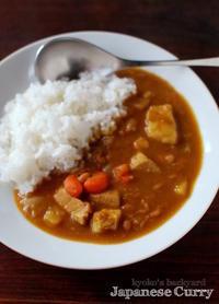うずら豆カレーからの、カツカレー - Kyoko's Backyard ~アメリカで田舎暮らし~