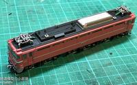 TOMIX EF8181お召塗装に常磐無線アンテナ跡を再現する (完成) - 鉄道模型の小部屋