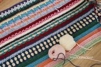 編み物の日々 色合わせの楽しみ ~Spicy Blanket 1~ 【くらし部門】 - YUKKESCRAP