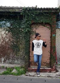 STYLES / ヒステリックグラマー ラグラン Tshirt - 'One World   /God bless you