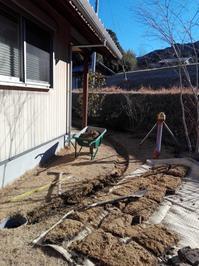 暗渠排水と伐採 - 有限会社 石松苑