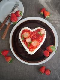ハートのショートケーキ♪ - This is delicious !!