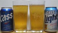 카스(Cass)  후레쉬(Fresh)と 라이트(Light) - ポンポコ研究所(アジアのお酒)