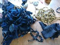 三つ編み紐作り - 古布や麻の葉