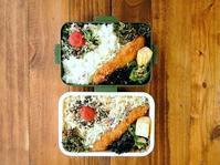 1/30(月)白身魚のフライ弁当 - おひとりさまの食卓plus
