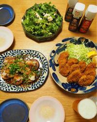 和食色々 ひれかつ、唐揚げ、鰤の幽庵焼き、すき焼き、生姜焼き - エリンゲル日記