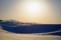 白銀の砂丘 夕景* - アオイソラ