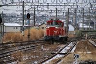藤田八束の鉄道写真@東北本線岩沼駅・・・極寒の厳しい冬、貨物列車は元気に快走・・・元気をもらっています - 藤田八束の日記