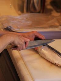 男の料理教室 〜魚を3枚におろす〜 - クローバーのデサイン工房