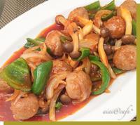 肉団子のチリソース炒め&ロボ羊さん - aiai @cafe