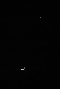 お月様と金星のデイト - 長老猫とマミーの徒然日記