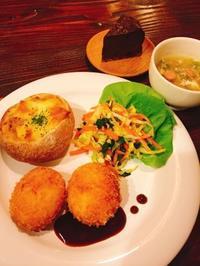 ホタテチャウダーのパングラタンとシンプルなジャガイモコロッケ - Lammin ateria