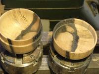 棗の内部を磨く - よしのクラフトルーム