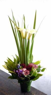 翌日の四十九日に。新琴似3条にお届け。 - 札幌 花屋 meLL flowers