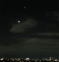 月と金星 - のんびり街さんぽ