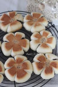 お花のあんぱんと小豆の蒸しパン♪ - 日々のココロ