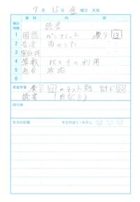 7月15日 - なおちゃんの今日はどんな日?