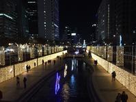 清渓川で夜の散歩♪ - さくらの気持ちとsuper Seoul♪