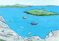 サントリーニ島 - たなかきょおこ-旅する絵描きの絵日記/Kyoko Tanaka Illustrated Diary