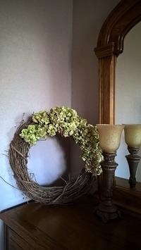 私の部屋~手作りキルトと紫陽花のリース - コテージ便り