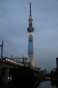 東京スカイツリーのライティングは、江戸の心意気を表現した「粋」でした(源森橋、白髭橋) - 旅プラスの日記