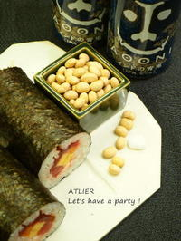 福は内~♪『青鬼』退治〜♪ - ATELIER Let's have a party ! (アトリエレッツハブアパーティー)         テーブルコーディネート&おもてなし料理教室