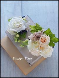 お揃いのコサージュ プリザーブドフラワー&アーティフィシャルフラワー - Bonbon Fleur ~ Jours heureux  コサージュ&和装髪飾りボンボン・フルール