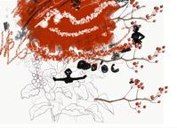 画像に迷い、テーマは赤 - 糸巻きパレットガーデン
