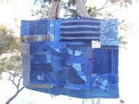 襤褸のトートバッグ(キルト綿入り)・・・数年前作りました - 藍ちくちく日記