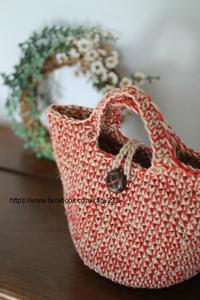 はじめての麻ひもバッグ 募集が始まりました - 山麓風景と編み物