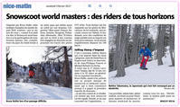 NICE-MATIN SNOWSCOOT WORLD MASTERS OF DERBY+DOWNHILL FRANCE ISOLA2000(17) - TAKAMATSU SNOWSCOOT COMPETITION