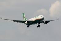 那覇に飛来した新塗装機 エバー航空 A330-200 - 南の島の飛行機日記