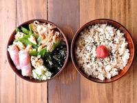 2/4(土)豚の甘辛煮とねぎのベーコン巻き弁当 - おひとりさまの食卓plus